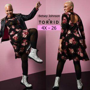 Betsey Johnson Torrid Floral Ponte Skater Dress 4X